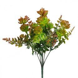Kövirózsa csokor, levelekkel, zöld-barna, kb. 30 cm