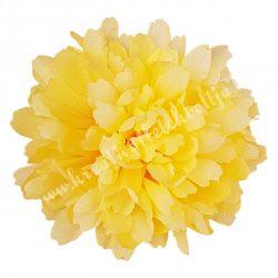Krizantém fej, sárga, 8 cm