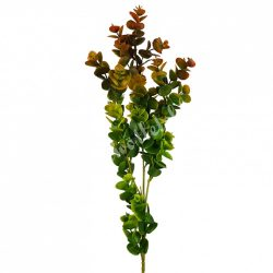 Eukaliptusz ág, zöld-bordó, 74 cm