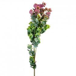 Eukaliptusz ág, hamvas zöld-rózsaszín, 74 cm