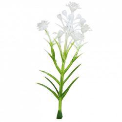 Mini rezgő 5 virággal, fehér, 4x9 cm