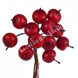 Betűzős alma, piros, 1,3x2 cm, 12 db/csokor