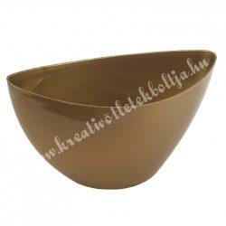 Műanyag csónak kaspó, arany, 23,5x13 cm