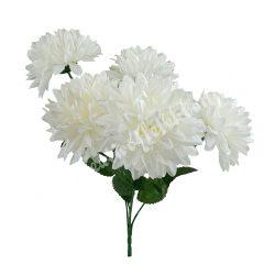 Krizantém csokor, fehér, 5 virág/csokor, kb. 37 cm