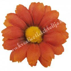 Margaréta virágfej, élénk narancs, 6 cm