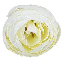Boglárka virágfej, krém, 3 cm