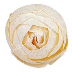 Boglárka virágfej, elefántcsont, 3 cm