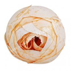 Boglárka virágfej, világos barack, 3 cm