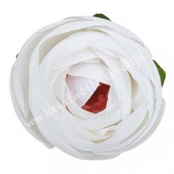 Boglárka virágfej, fehér, 5 cm