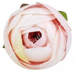 Boglárka virágfej, krém-rózsaszín, 5 cm