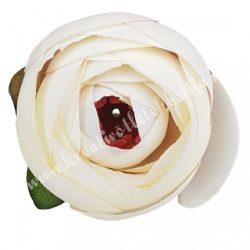 Boglárka virágfej, krém-lila, 5 cm