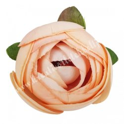 Boglárka virágfej, lazac, 5 cm