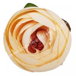 Boglárka virágfej, világos barack, 5 cm