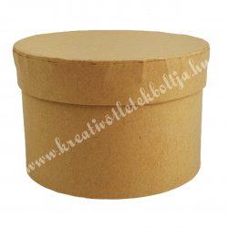 Kerek papírdoboz, kraft, 11,5x7 cm