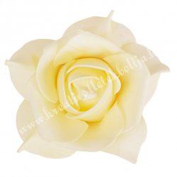 Polifoam rózsa, elefántcsont, (16)  9x6 cm