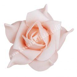 Polifoam rózsa 33., 6x5 cm, Világos rózsaszín