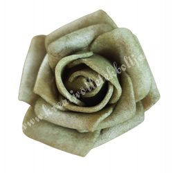 Polifoam rózsa, 3,5x2,5 cm, 19., Olíva