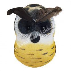 Csipeszes bagoly, sárga, sötétbarna, 5,5x9 cm
