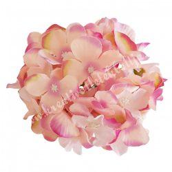 Hortenzia fej, mályva-zöld-rózsaszín, 15 cm