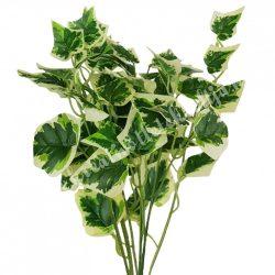 Borostyán csokor, zöld-fehér, 44 cm