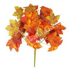 Őszi leveles ág, narancs-zöld, 30 cm