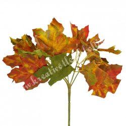 Szőlőleveles csokor, zöld-rozsda, 26 cm