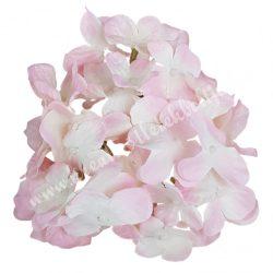 Hortenzia fej, rózsaszín-fehér, 15 cm
