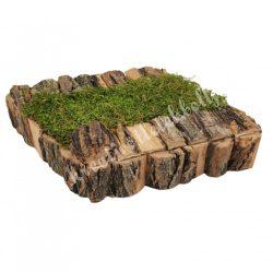 Kis rombusz dekoralap akáckéreggel, natúr, 26x19 cm