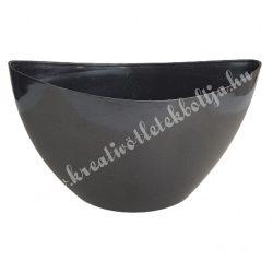 Műanyag csónak kaspó, grafit, 25x12 cm