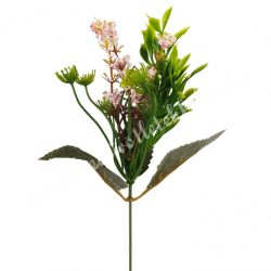 Pick bogyós virág, rózsaszín, kb. 36 cm