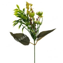 Pick bogyós virág, zöld, kb. 36 cm
