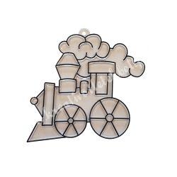 Festhető forma matricafestékhez, mozdony