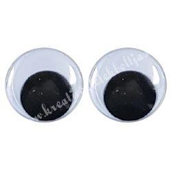 Kerek varrható mozgó szem, 15 mm, pár