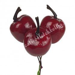 Betűzős alma, bordó, 10 cm, 3 db/csokor