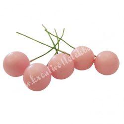 Betűzős hungarocell bogyó, rózsaszín, 1,5 cm, 5 db/csokor