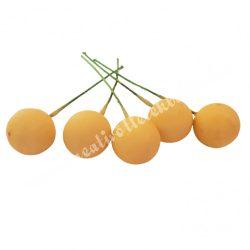 Betűzős hungarocell bogyó, sárga, 1,5 cm, 5 db/csokor