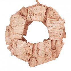 Koszorú fűzfa darabokból, cappuccino, 25 cm