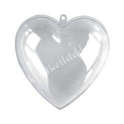 Műanyag szív, kettéosztható, több méret, 1 darab