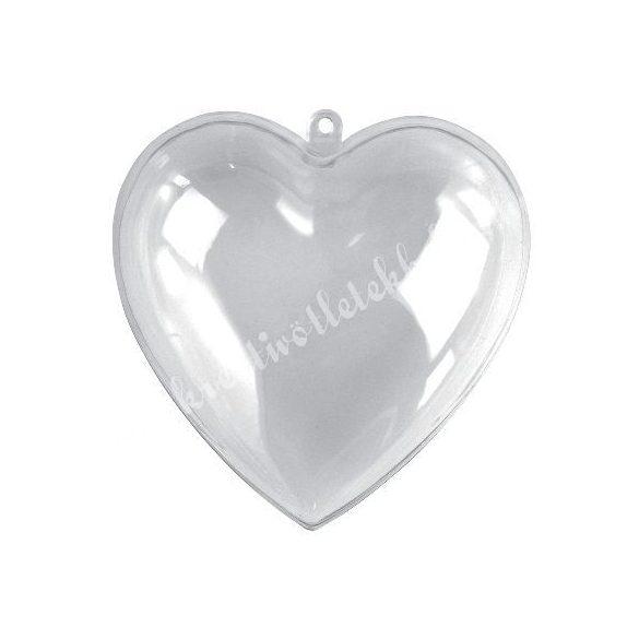 Műanyag szív, kettéosztható, több méret