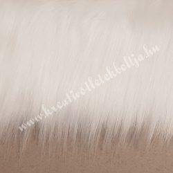 Hosszú szőrű műszőr, fehér, kb. 20x150 cm