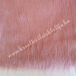 Hosszú szőrű műszőr, rózsaszín, kb. 10x150 cm