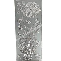 Öntapadós matrica 11., ezüst