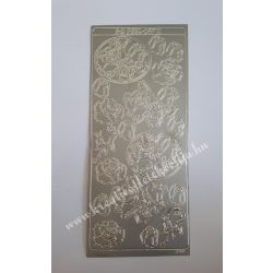Öntapadós matrica 8., ezüst