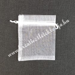 Organzatasak, fehér, 5x7 cm