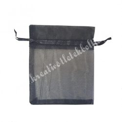 Organzatasak, fekete, 9,5x12 cm