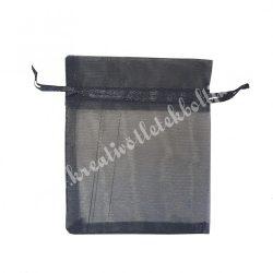 Organzatasak, fekete, 10x12 cm