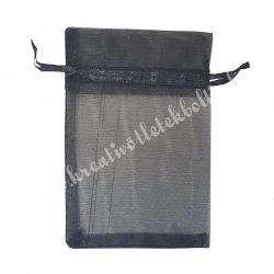 Organzatasak, fekete, 5x7 cm