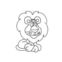 Festhető forma matricafestékhez, oroszlán