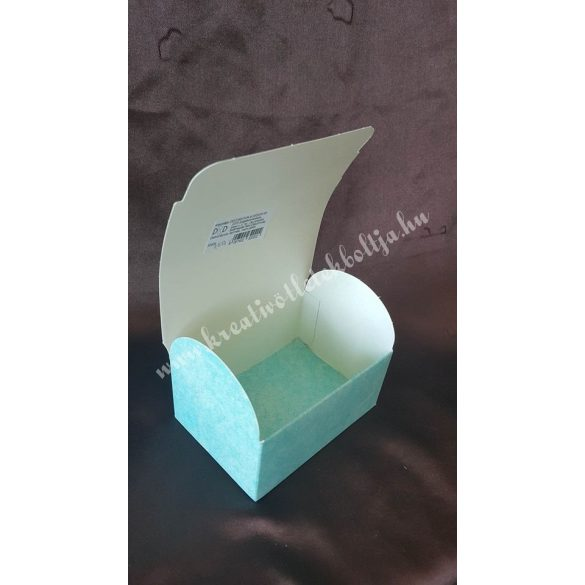 Papírdoboz,100x70x75mm,türkiz