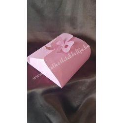 Papírdoboz, 140x130x45 mm, rózsaszín